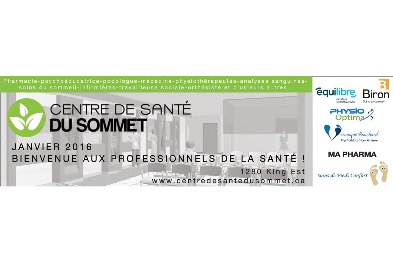 COMMUNIQUÉ DE PRESSE – LE CENTRE DE SANTÉ DU SOMMET….LA SUITE!
